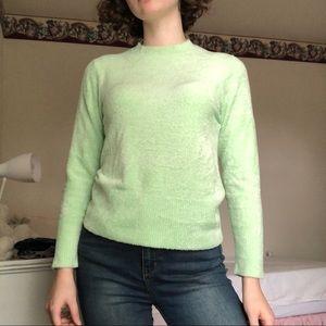 Arizona Lime Green Fuzzy Sweater